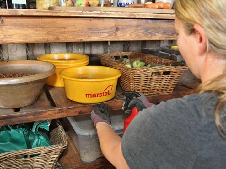 marstall Müslischüssel in der Futterkammer von Immenhof